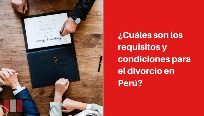 requisitos para divorcio peru